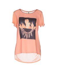 Maison Scotch Orange T-shirt