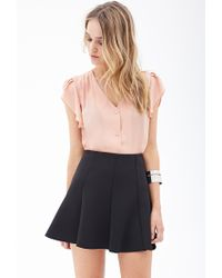 Forever 21 - Pink Pleated Chiffon Blouse - Lyst