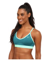 Nike - Blue Pro Indy Bra - Lyst
