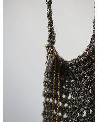 Free People Metallic Crochet Chain Medicine Bag