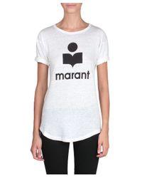 Étoile Isabel Marant - White Koldi Linen T-Shirt - Lyst