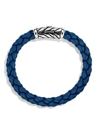 David Yurman - Metallic Chevron Bracelet In Blue for Men - Lyst