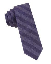 Calvin Klein Purple Striped Tie for men