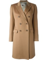 Alberto Biani - Brown Double Breasted Overcoat - Lyst