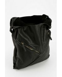 Urban Outfitters | Black Deena Ozzy Defined Lines Leather Tote Bag | Lyst