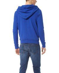 Danward Blue Zip Sweatshirt for men
