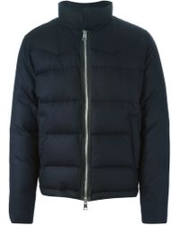 AMI - Blue Padded Jacket for Men - Lyst