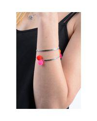 Lee Renee - Pink Peruvian Bracelet Pom Poms Silver - Lyst