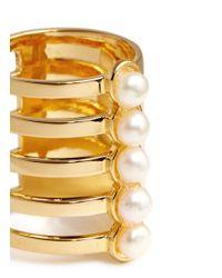 Assad Mounser - Metallic 'eternity' Pearl Asymmetric Cutout Tall Ring - Lyst