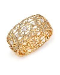 Adriana Orsini Metallic Kaleidoscope Pavé Wide Bangle Bracelet