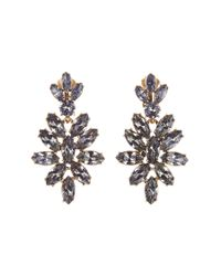 Oscar de la Renta | Blue Navette Earrings | Lyst