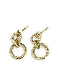 David Yurman | Metallic Cable Doorknocker Earrings in Gold | Lyst