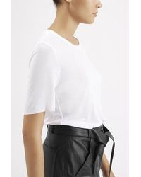 TOPSHOP - White Premium Raw Edge Tee By Boutique - Lyst