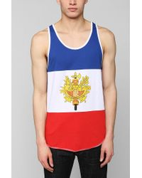 Urban Outfitters Red France Flag Tank Top for men