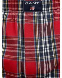 GANT - Multicolor Check Woven Cotton Boxers for Men - Lyst
