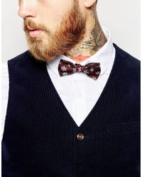 ASOS | Purple Christmas Bow Tie In Snowflake Design for Men | Lyst