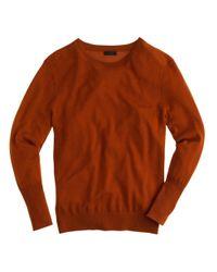 J.Crew | Brown Italian Featherweight Cashmere Rib-trim Sweater | Lyst