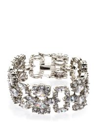 CZ by Kenneth Jay Lane - Metallic Rhodium-Plated Bracelet - Lyst