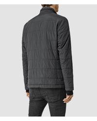 AllSaints - Gray Halsey Puffa Jacket for Men - Lyst