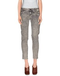 Carolina Wyser - Gray Denim Trousers - Lyst