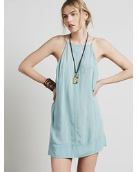 Free People | Green Side By Side Slip | Lyst