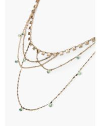 Mango | Metallic Metal Appliqués Necklace | Lyst