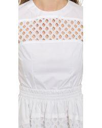 Carven - Hemstitching Dress - White - Lyst