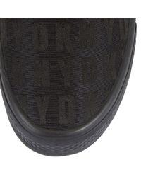 DKNY Black X Barrow Logo Plimsoll Trainers