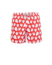 Vilebrequin Red Strawberry Print Swim Shorts for men