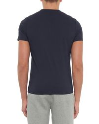 Moncler - Blue Maglia Contrast-patch Jersey T-shirt for Men - Lyst