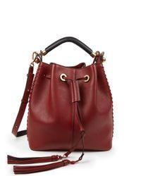 Chloé | Brown Gala Leather Bucket Bag | Lyst