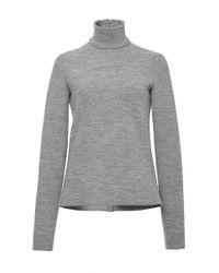 Martin Grant Gray Light Grey Wool Classic Turtleneck