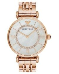Emporio Armani - Pink Bracelet Watch for Men - Lyst