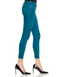 Hudson Jeans - Blue Krista Jeans In Turquoise Destructed - Lyst