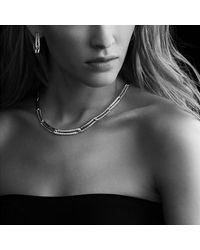 David Yurman - Metallic Labyrinth Link Necklace With Diamonds - Lyst
