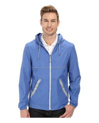 Perry Ellis - Blue Nylon Hooded W/ Reflective Tape for Men - Lyst