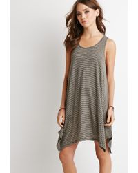 Forever 21 - Gray Classic Striped Mini Dress - Lyst