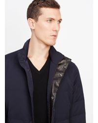 VINCE | Blue Heavy Twill Quilted Jacket for Men | Lyst