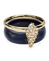Alexis Bittar | Metallic Lucite Crystal Encrusted Movable Band Ring | Lyst