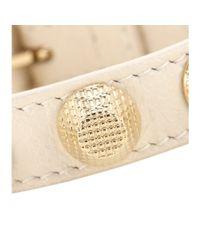 Balenciaga   Natural Giant Stud Leather Bracelet   Lyst