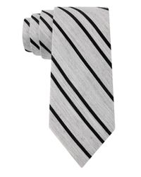 DKNY | Black Silk-Blend Stripe Tie for Men | Lyst