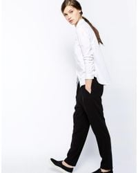 French Connection - Mountain Cotton Shirt in Winter White - Lyst