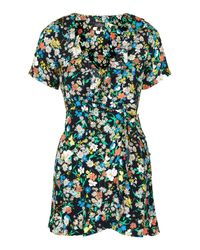 TOPSHOP | Multicolor Petite Retro Floral Tea Dress | Lyst