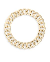 Adriana Orsini | Metallic Curb Chain Collar Necklace/goldtone | Lyst