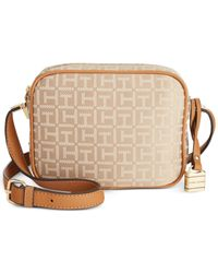 Tommy Hilfiger - Natural Th Hinge Monogram Jacquard Mini Crossbody - Lyst