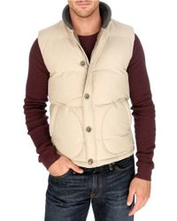 Lucky Brand Natural Workwear Puffer Vest for men