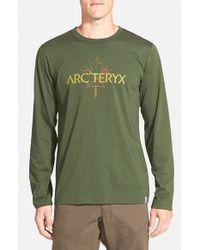 Arc'teryx Multicolor 'maple' Trim Fit Long Sleeve T-shirt for men