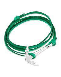 Miansai | Green Anchor Leather Bracelet | Lyst