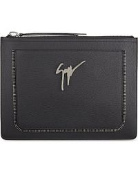 Giuseppe Zanotti - Black Zip-Detail Pouch - For Men for Men - Lyst