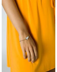 Patrizia Pepe | Metallic Costume Jewellery Brass Bracelet With Fly | Lyst